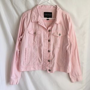 Forever 21   Pink Jacket   Plus Size 0X